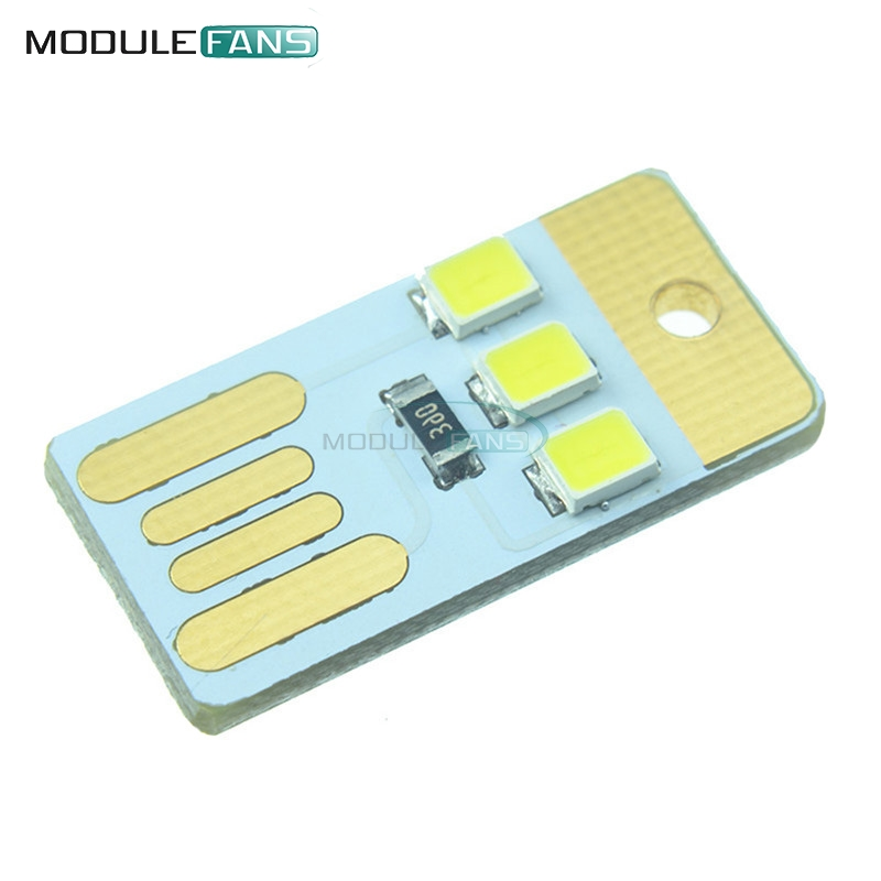 Integrated Circuits Electronic Components & Supplies 10pcs Mini Night Usb Led Keychain Portable Power White Board Pocket Card Lamp Bulb Led For Fast Shipping