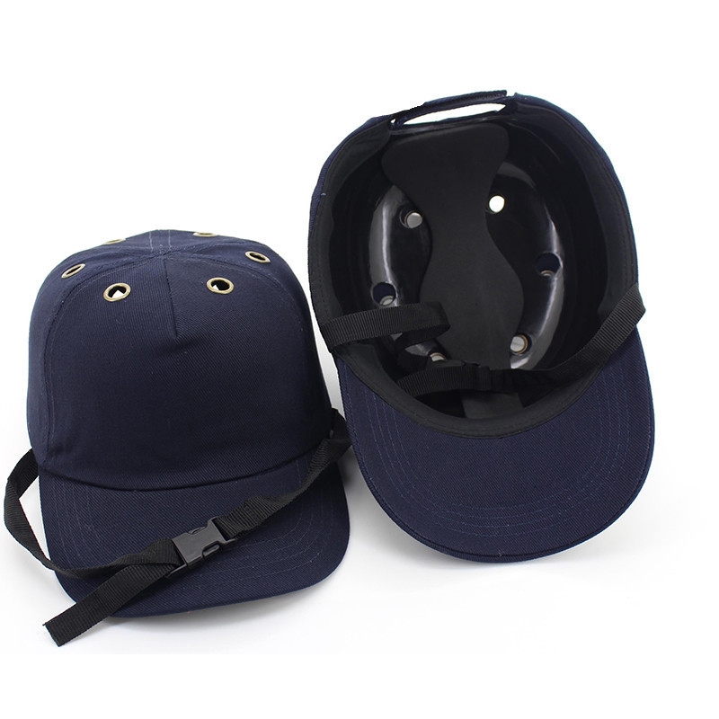 Bump Cap Arbeit Schutzhelm Abs Innenschale Baseball-mütze Stil Schutzmaßnahmen Hartplastik Hut Für Arbeitskleidung Kopfschutz Top 6 Löcher Diversifizierte Neueste Designs Arbeitsplatz Sicherheit Liefert Schutzhelm
