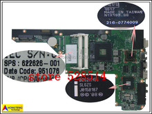 original for Hp DV3 Series Laptop Motherboard 622626-001 system mainboard 100% Test ok