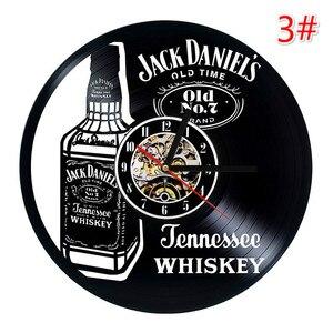 Image 4 - Home Living Whiskey Classic Wall Clock Fashion Decoration Art Clock Vinyl Record Wall Clocks