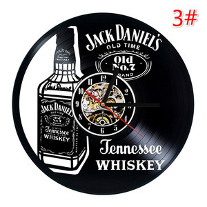 Image 4 - Home Living whisky orologio da parete classico decorazione di moda orologio da parete orologio da parete in vinile