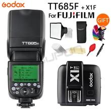 Godox TT685F 2.4G HSS TTL GN60 Flash Speedlite+ X1T-F Trigger Transmitter Kit for Fujifilm Fuji X-Pro2/X-T20/X-T1/X-T2