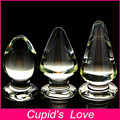 Большой Анальный Плагин Стекло Большой Дилдо Butt Plug Секс Игрушки Для Женщин Lover Игрушки Взрослые Продукты Стеклянный Дилдо