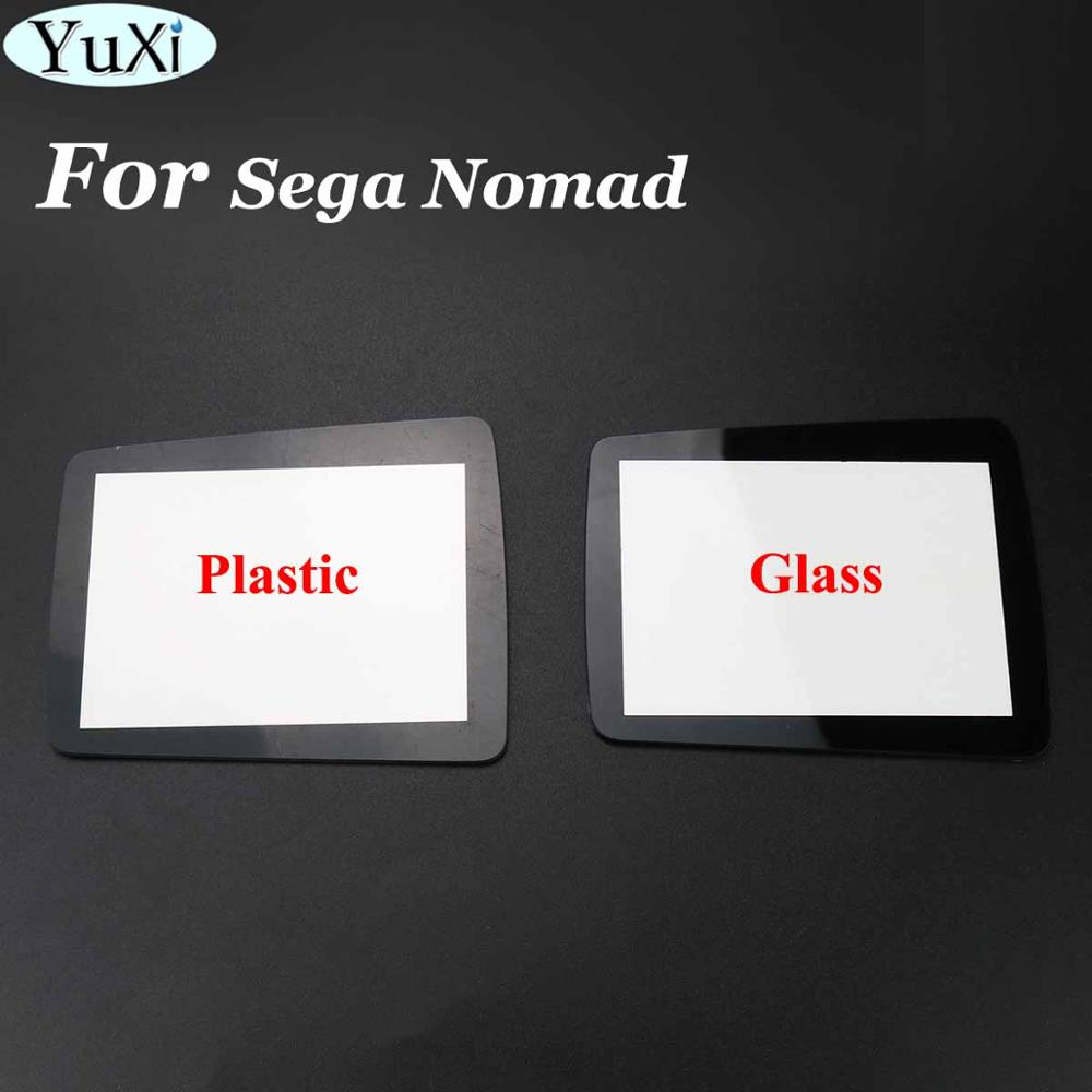 YuXi Plastic & Glass Screen Protector Cover Lens replacemnt film for Sega Nomad handheld game player console image