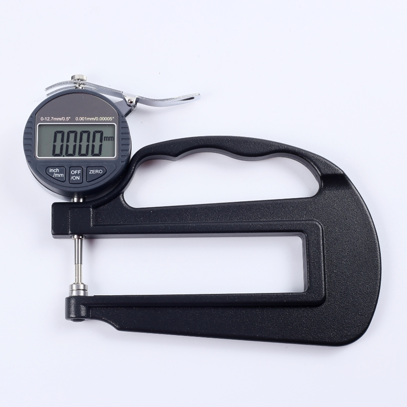 0-10mm Electronic Digital Thickness Gauge 0.001mm Micron Thickness Indicator Paper Leather Micrometer Measure Tools Depth 120mm цены