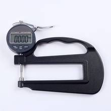 0-10mm Electronic Digital Thickness Gauge 0.001mm Micron Thickness Indicator Paper Leather Micrometer Measure Tools Depth 120mm