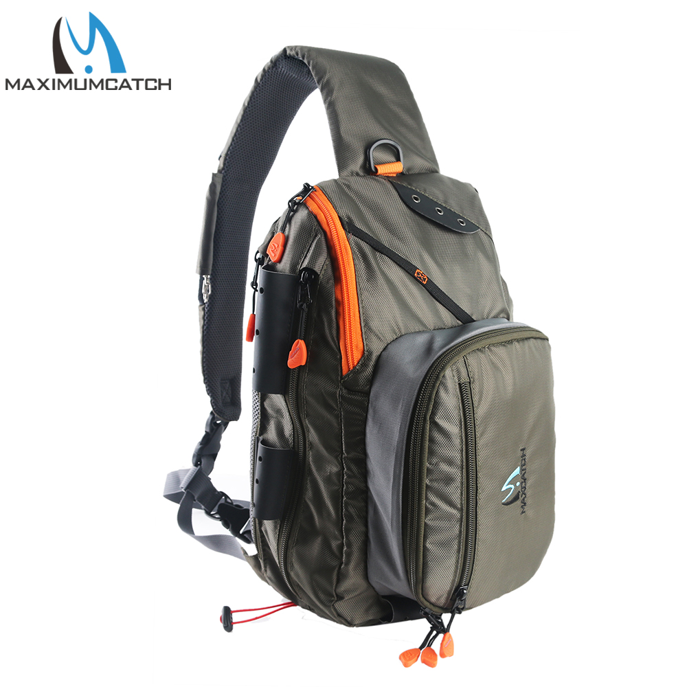 Maximumcatch Fishing Sling Back Pack Outdoorsport Fly Fishing Sling Bag With Fly Patch-in Fishing Bags from Sports & Entertainment    1