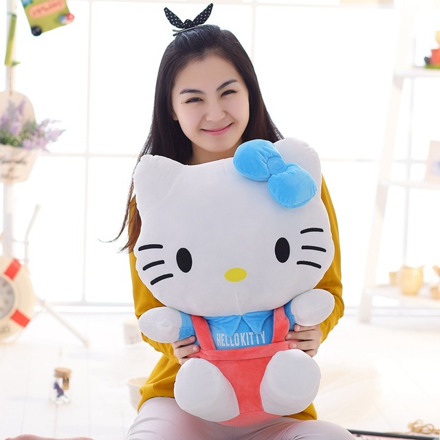 New Classic HELLO KITTY Stuffed Plush Toy Biggest 50cm Children Birthday Lovers Christmas Present Free Shipping Hot Sale Soft