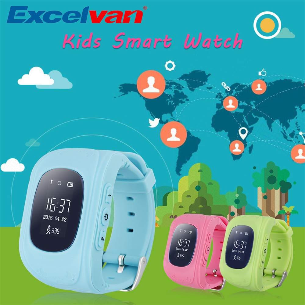 2016 Smart Kid Safe GPS Watch Wristwatch SOS Call Location Finder Locator Tracker for Kid Child Anti Lost Monitor Baby Gift Q5018