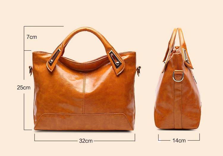Women Oil Wax Leather Designer Handbags High Quality Shoulder Bags Ladies Handbags Fashion brand PU leather women bags WLHB1398 13