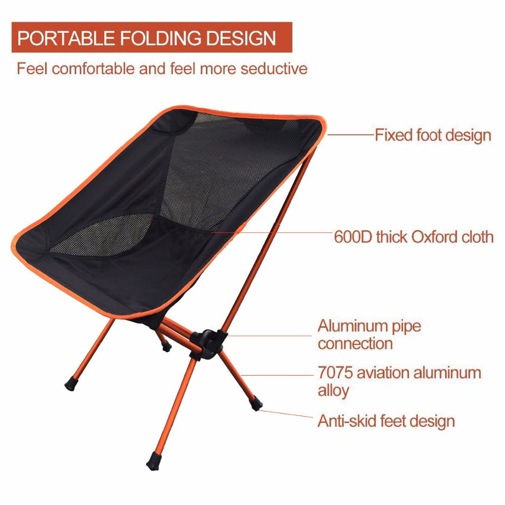 Image 2 - Modern Outdoor Beach Camping Chair for Picnic fishing chairs Folded chairs for Garden,Camping,Beach,Travelling,Office Chairs-in Beach Chairs from Furniture
