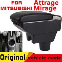 Leather Car Armrest For Mitsubishi Attrage mirage Arm Rest Rotatable saga leather car armrest for renault sandero arm rest rotatable saga