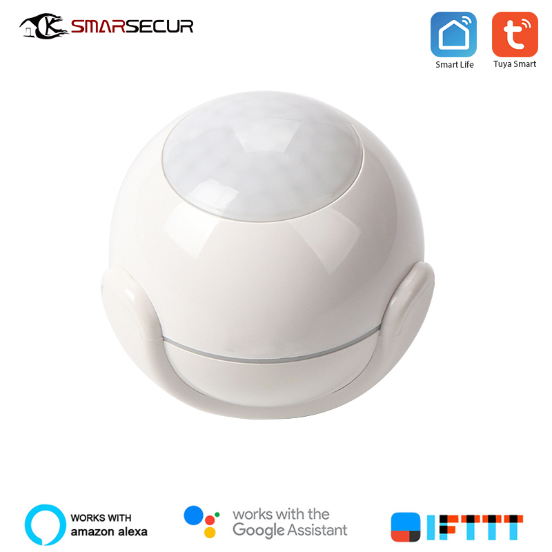 SMARSECUR Wireless Wifi PIR Motion Sensor Alarm Detector Smart Home Automation Modules Works IFTTT Smart Life APP