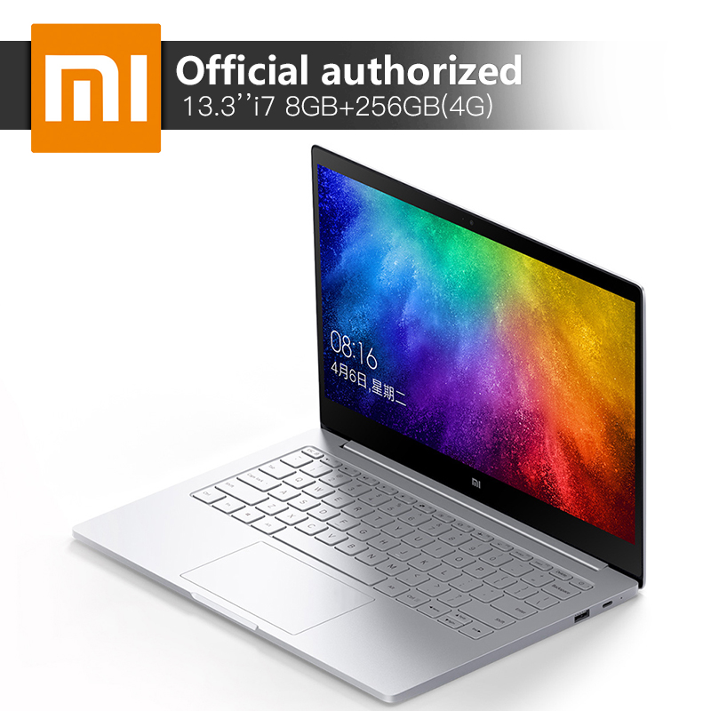 Original Xiaomi Notebook Air Intel Core i7-7500U 13.3'' 8GB DDR4 256GB SSD MI Computer 940MX 1GB GDDR5 Windows10 4G Laptop