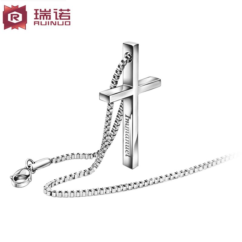 Mens titanium pendants menus titanium diamond fleur de lis dog tag free shipping men titanium steel necklace cross pendant occidental nacklace boy giftchina mainland aloadofball