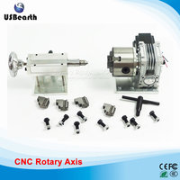 A Axis Three Jaw Chuck Rotary Axis CNC Tailstock For Our CNC Engravers With Limit
