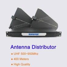 400 metros de Frecuencia 550-950 MHz Antena de Cuatro Canales Distribuidores UA845, UA870, UA844 Splitter para Micrófono Inalámbrico sistema