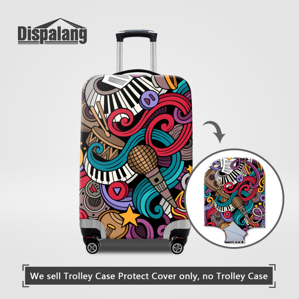 Dispalang Graffiti Design Protective Luggage Cover Dustproof Travel Luggage Cover Suit for 18-30inch Case Elastic Suitcase Cover