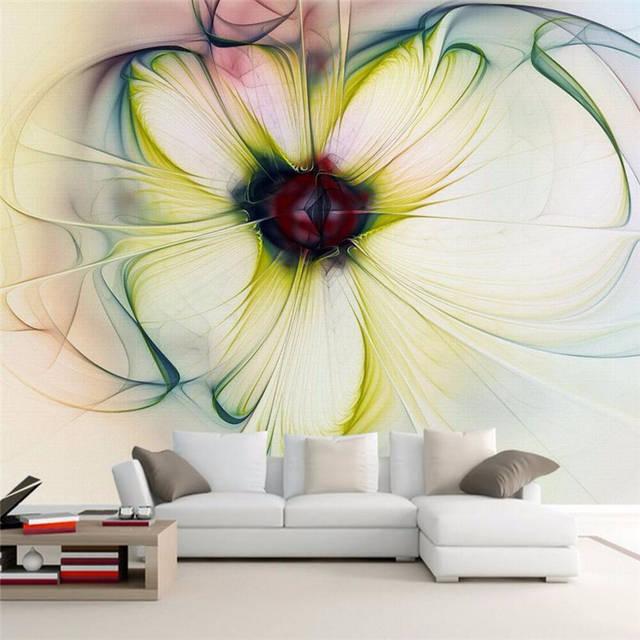 Mooie Moderne Slaapbank.Us 9 0 40 Off Beibehang Behang Moderne Kunst Abstract Bloemen Behang Slaapkamer 3d Woonkamer Slaapbank Mooie Bloemen Achtergrond 3d Behang In