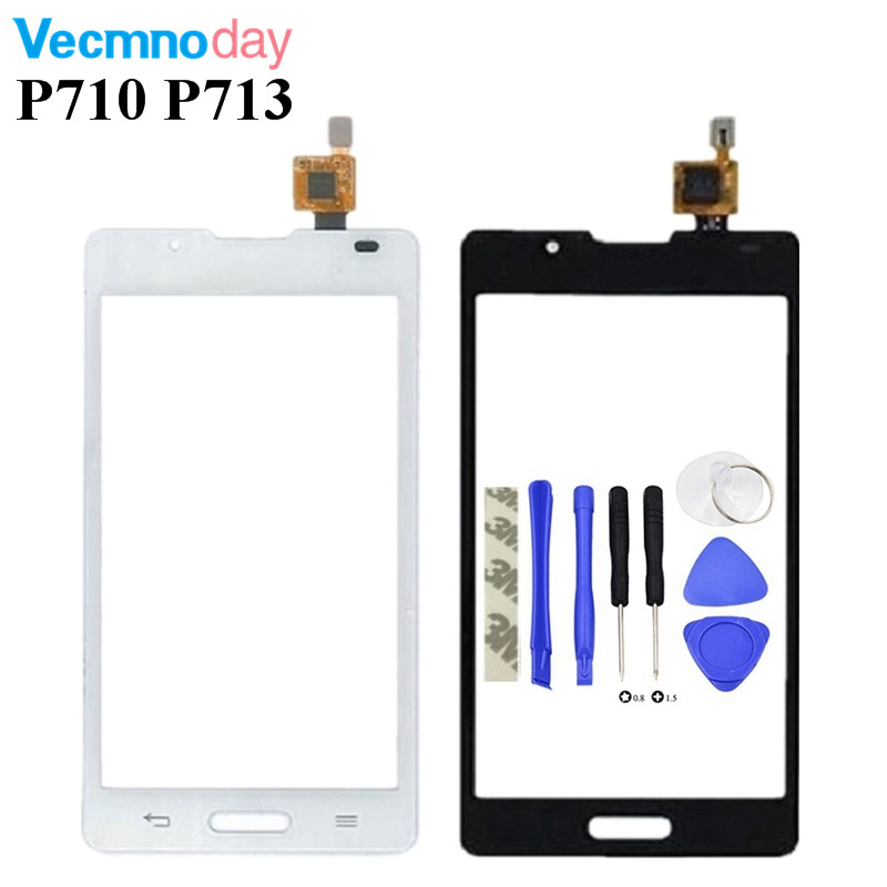 Vecmnoday 1pcs 4.3 For LG Optimus L7 II 2 P710 P713 Touch Screen Digitizer Front Glass Lens Sensor Panel Free Shipping
