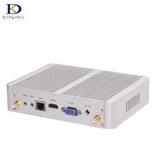 Безвентиляторный HTPC, 4005U Nuc Intel Core i3 Двухъядерный, USB 3.0, VGA, HDMI, WI-FI, 3D игры поддержки, Мини неттоп компьютер Destop Мини PC TV