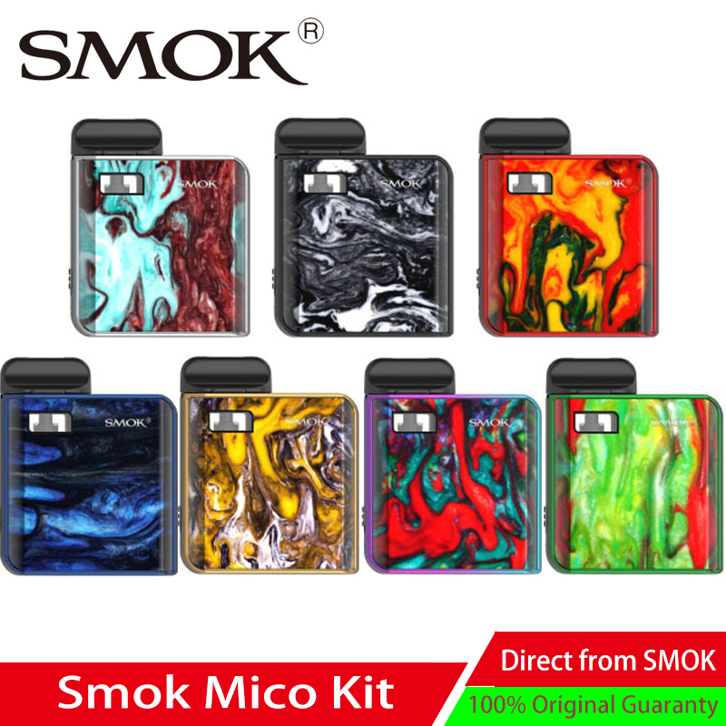 In stock SMOK Mico kit with 700mAh battery pod mod MTL vaping pod vape Electronic Cigarette 1.7ml pod system kit