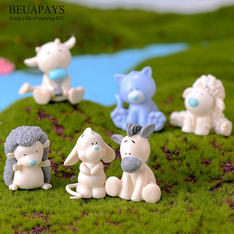 Figurines Miniatures home decoration accessories Crafts hogar figurines bonsai DIY Resin Pencil Dog Hippo Cow Donkey