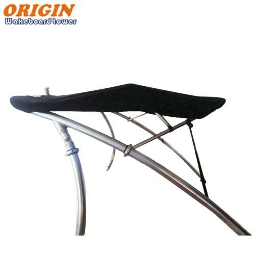 Origin OWT-TBMI Boat Wakeboard Tower Bimini Top - 1470 Version & Black Canopy