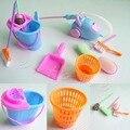 Conjunto de 9 Pcs Kit De Limpeza Mais Limpo Para Casa de Bonecas Mobiliário Móveis Para Casa
