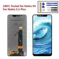 "100% Tested for Nokia 5.1 Plus LCD Display Touch Screen 5.86"" for Nokia X5 LCD Digitizer Assembly Replacement Repair Spare Parts"