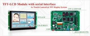 Камень 8 дюймов Смарт HMI TFT ЖК-модуль с UART серийный интерфейс для инструмента человеческого машинного интерфейса STVA080WT-01
