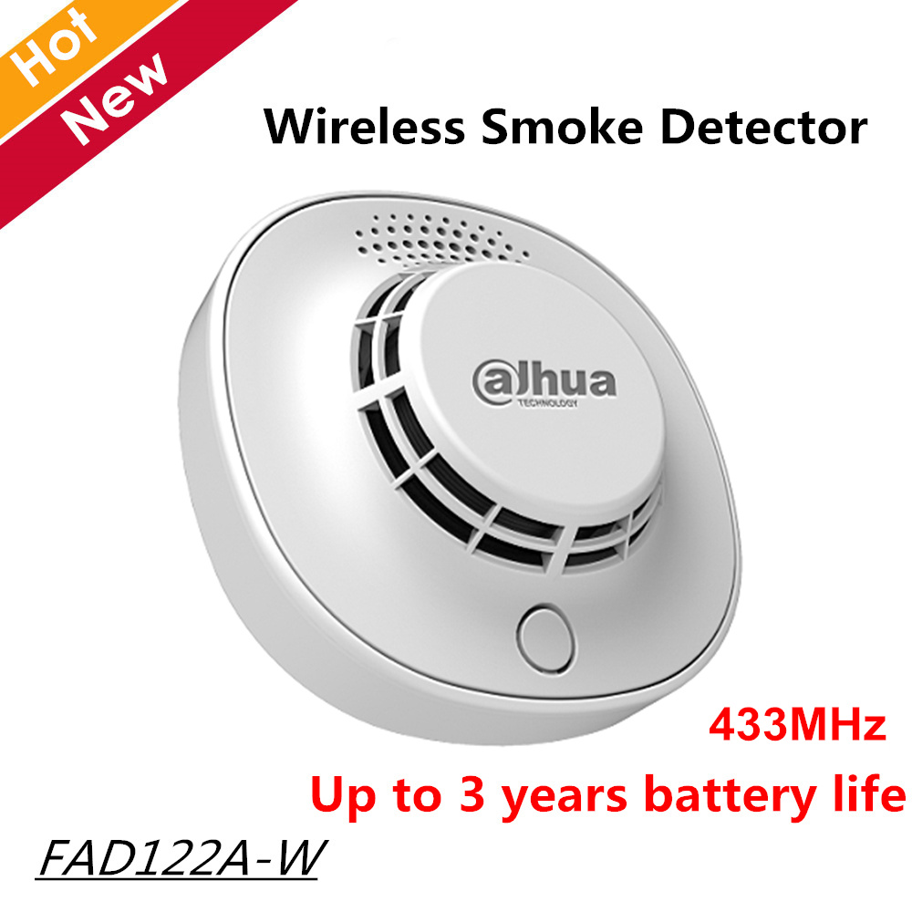Dahua Wireless Smoke Detector FAD122A-W Frequency 433MHz High Detection Sensitivity For Intercom Sytems
