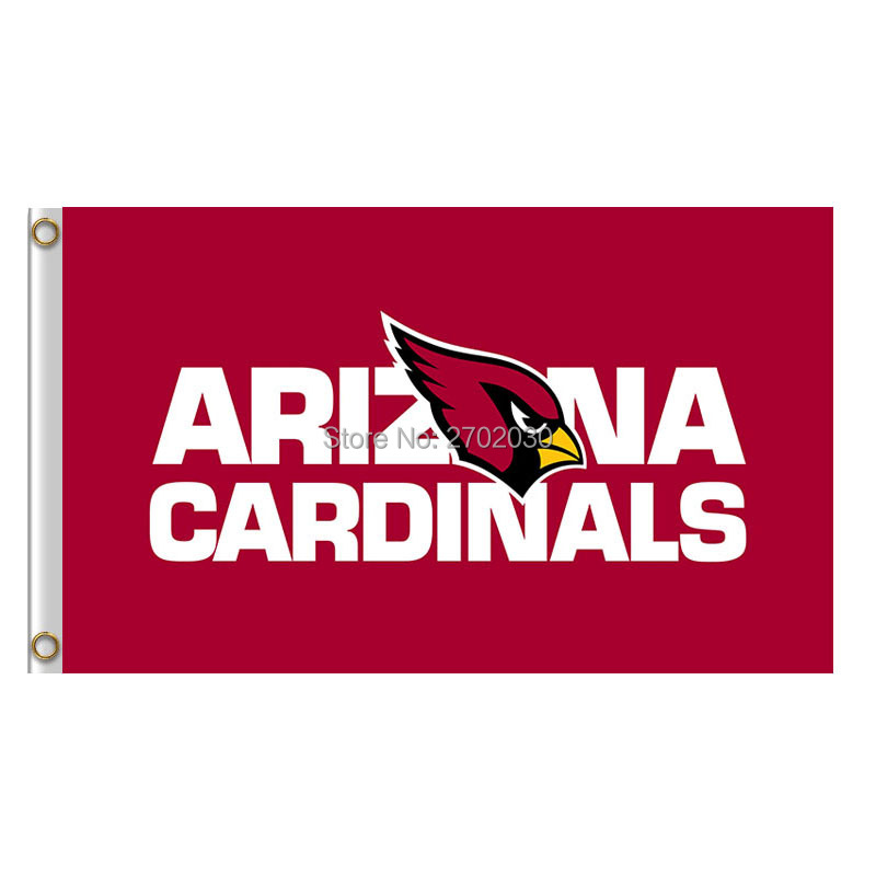 Arizona Cardinals Flag 3ft X 5ft Polyester NF*L Arizona Cardinals Banner Flying Size World Series Football Team Super Bowl Flag