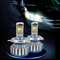 Error Cancelar 9600 Lúmenes LED de Canbus 12 V 24 V H1 H3 H4 H7 H11 Linterna del coche Kit de Lámpara Frontal Niebla Bombilla Faro luz De Carretera Bajo