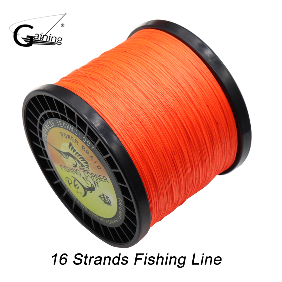 Gaining Super Strong 16 Strands Weaves Braided Fishing Line1000M ...