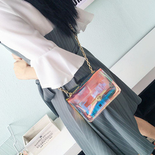Transparent Hologram Laser Women Hand Clutches
