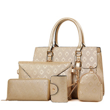 New Brand Composite Bag Women Handbags PU Leather Messenger Bags Pressed Pattern Women Shoulder Bag Set Crossbody Bag For Female