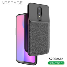 NTSPACE 5200mAh Battery Charger Case For OPPO R17 Pro Power Portable Bank Back Clamp Charging