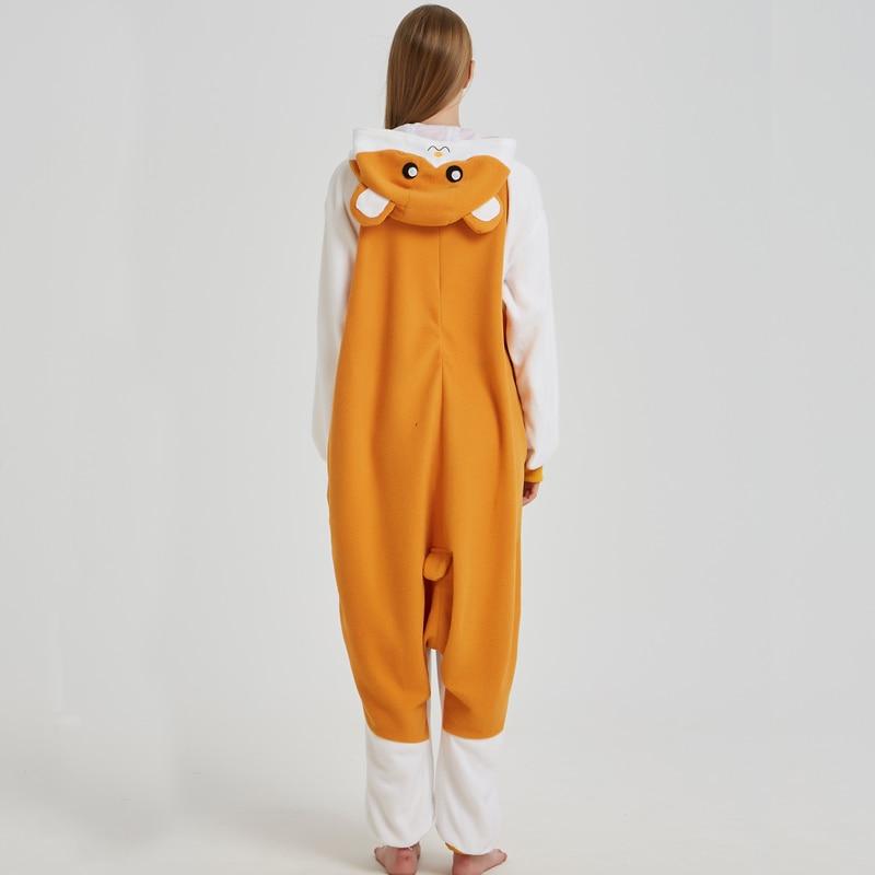 Cartoon Mouse Hamtaro Kigurumi Polar Fleece Cosplay Onesie Costume Animal Pajamas Halloween Carnival Masquerade Party Jumpsuit (2)