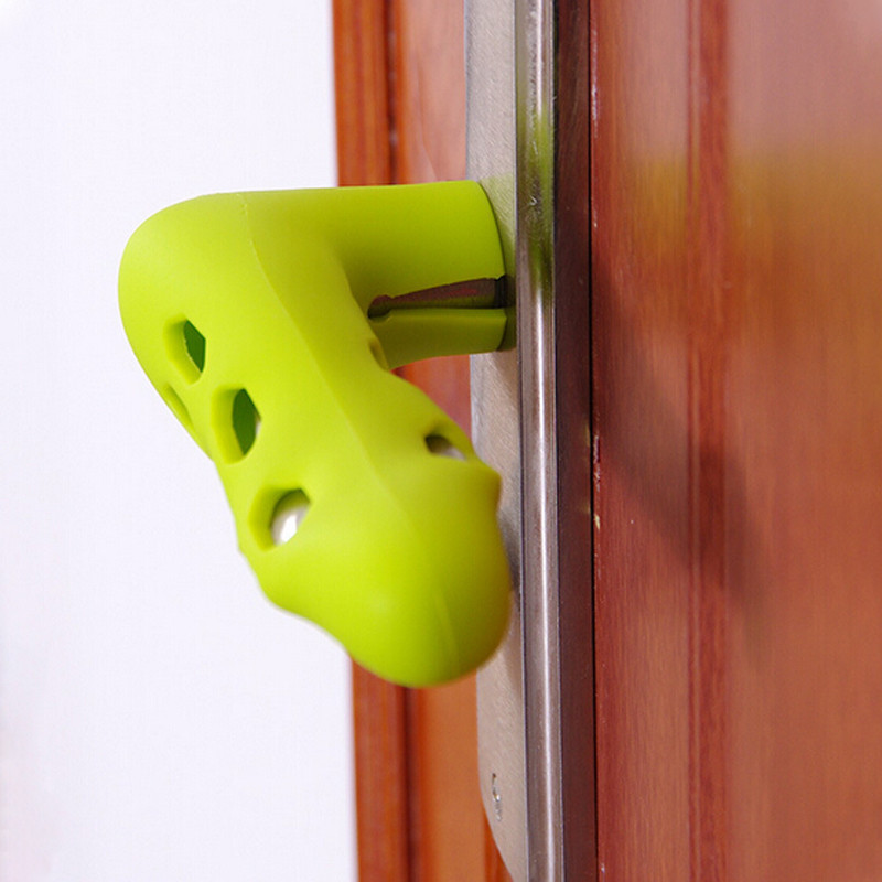 Silicone Doorknob Safety Cover Home Door Handle Knob Guard Protector Baby Protector Child Protection Products Anti collision|Door Knob Covers| |  - title=