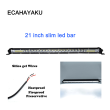ECAHAYAKU 1x slim 21 inch 120w LED light bar single Row combo beam led work For SUV 4X4 ATV truck car vas offroad jeep