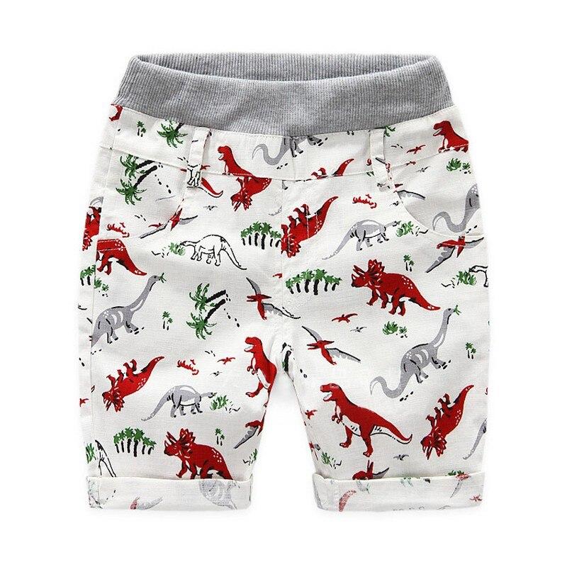 Summer Baby Boys Shorts Children Beach Wear Dinosaur Pattern Boys Bottom Pants Kids Boys Character Sports Shorts 2~7Y