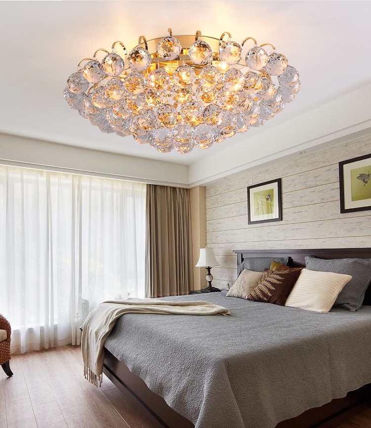 Crystal combination LED ceiling lights circular light bedroom porch light balcony corridor living room ceiling lamp ZA SJ29 light colorful ceiling lights restaurant creative children s room bedroom balcony corridor lamp shell ceiling lamp za