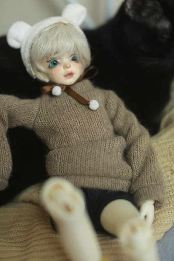 인형 용 옷 bjd 1/3 1/4 용 두꺼운 회색 스웨터 bjd dd sd 인형 액세서리 인형 의류 인형 용 겨울 스웨터