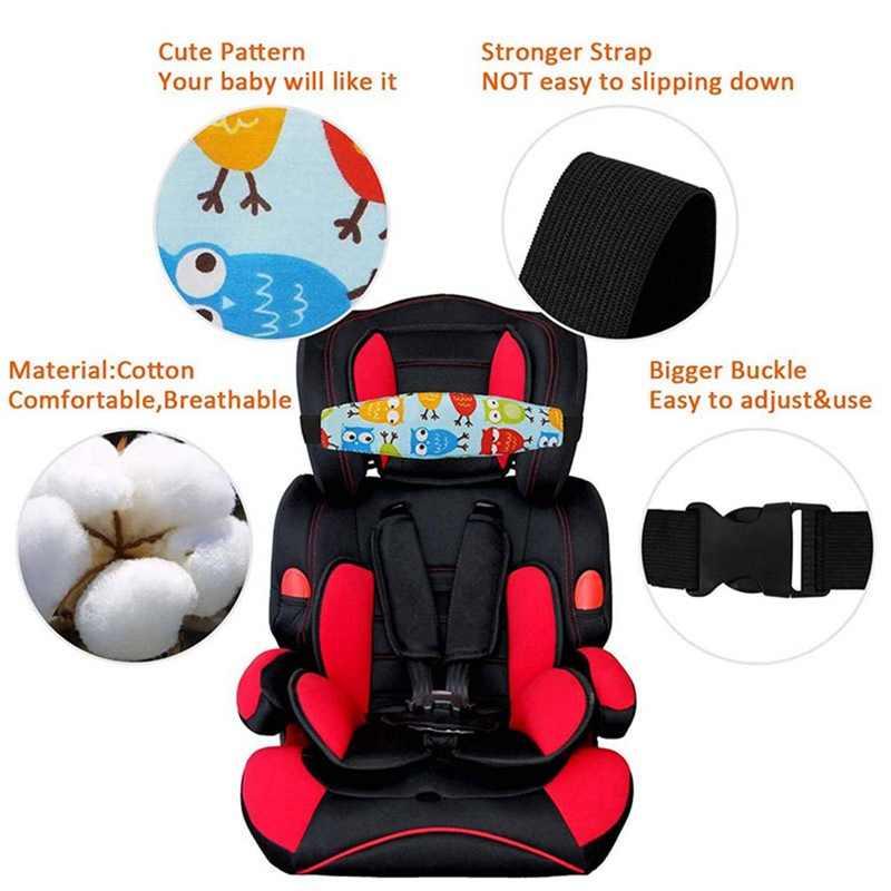 Bebé asiento de coche de bebé de la cabeza en apoyo de los niños cinturón de correa ajustable niño niña Corralitos dormir posicionador bebé de seguridad almohadas
