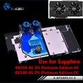 BYKSKI Full Cover Graphics Card Block Use For Sapphire Nitro Radeon RX 580 / 590 8GD5 8GB GDDR5 (11265-01-20G) Copper Radiator