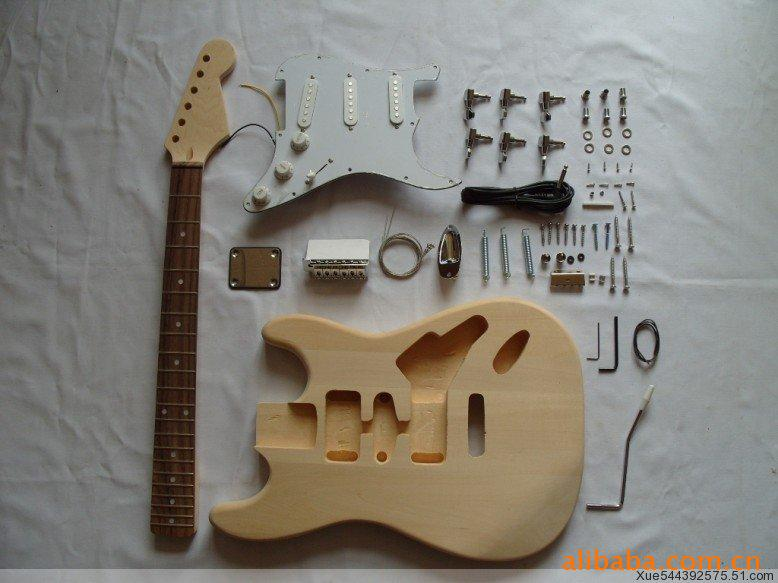 2018 New Popular ST electric guitar semi-finished products Practice electric guitar DIY electric guitar musiclily 3ply pvc outline pickguard for fenderstrat st guitar custom