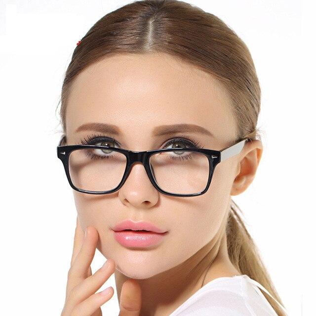 Качество Стекла Классический и Простой Дизайн TR 90 Очков Женщин Черный Оптические Очки Кадр