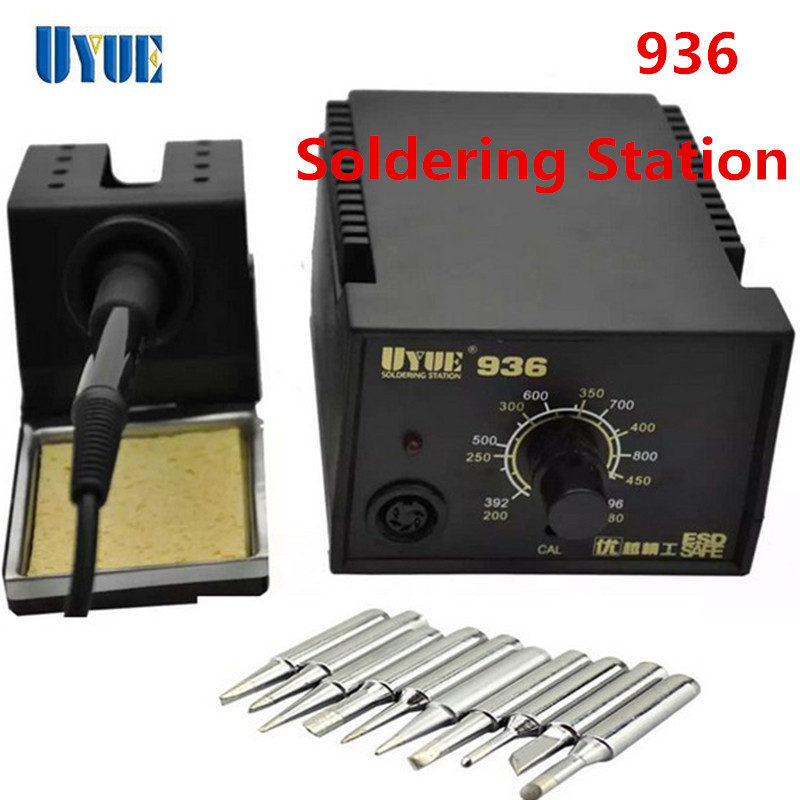 ФОТО New UYUE 936 Constant Temperature 60W Electronic Soldering Iron SMD Soldering Station Digital Solder Iron+10Pcs Iron Tips