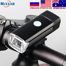 Dropshipping Led Bicycle Front Light USB Rechargeable Built-in battery LED Head Lamp Lighting Lantern Bike Cycling Flashlight